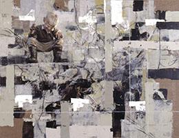 Ilkka Lammin maalaus Kesävaikutelma vuodelta 2000. Heinon taidesäätiön kokoelma