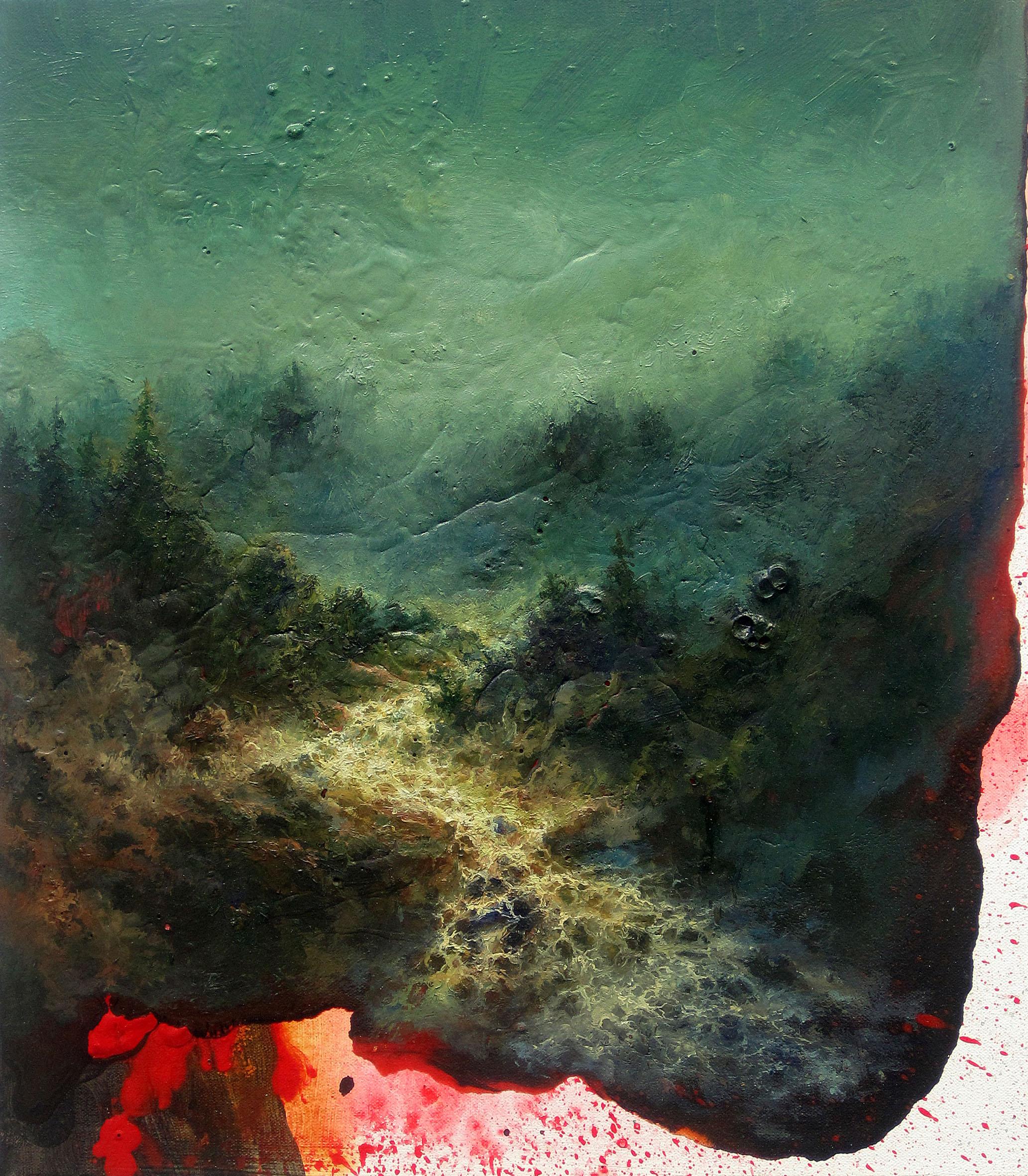 Petri Ala-Maunus, Earth´s Core, 2016. Öljy kankaalle 46 x 40. Kuva Jefunne Gimpel