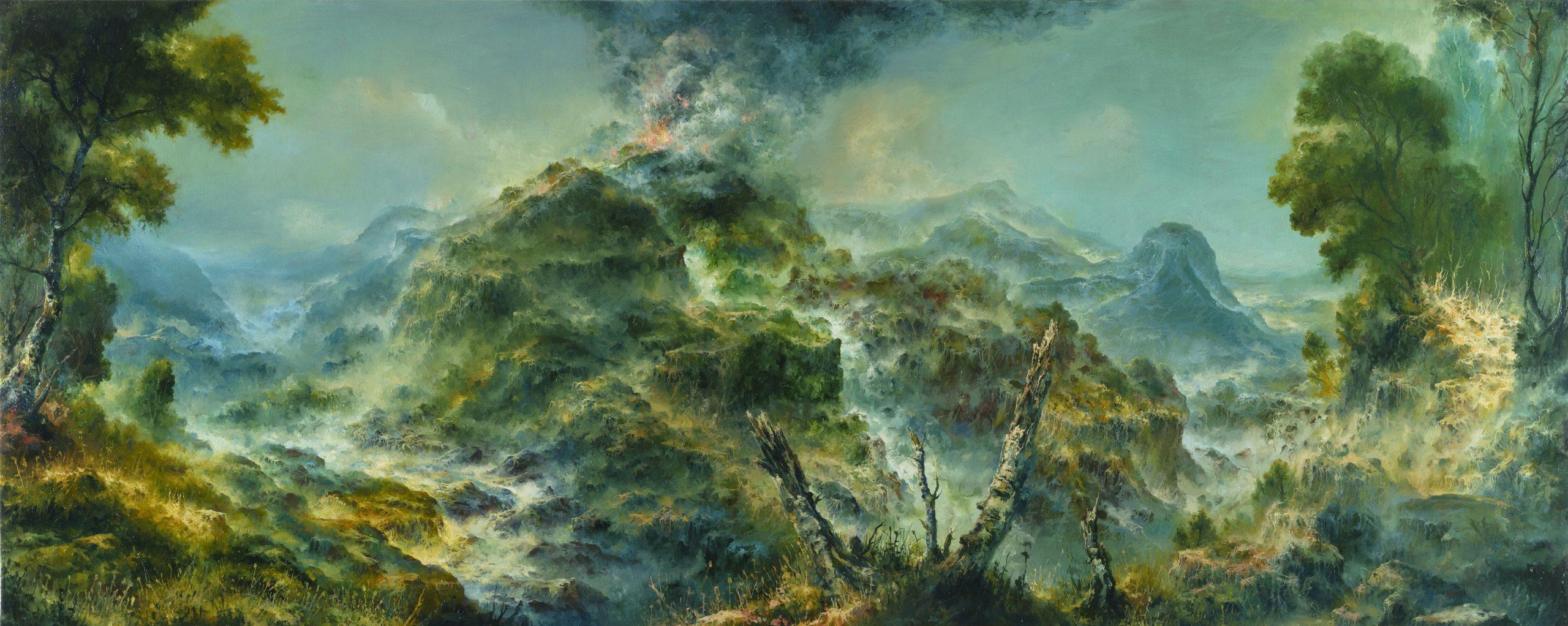 Petri Ala-Maunus, Etna, 2020. Öljy kankaalle 80 x 200. Valtion taidekokoelmat. Kuva Jefunne Gimpel