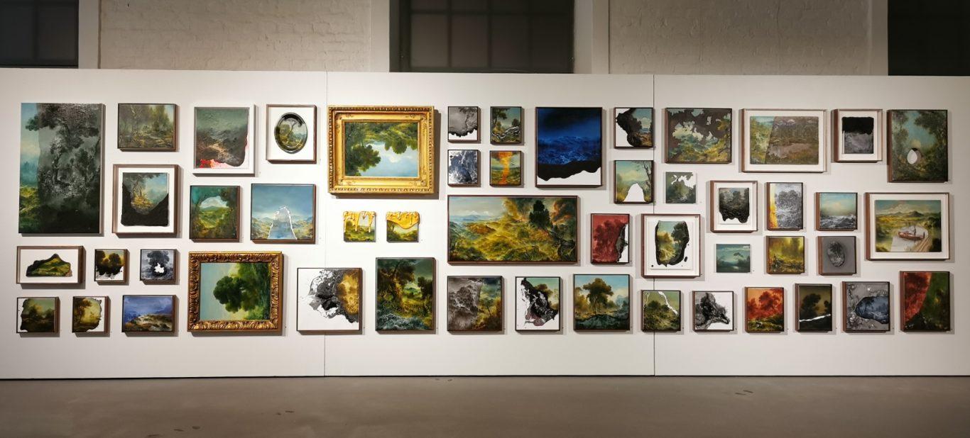Petri Ala-Maunuksen pienikokoisia maalauksia